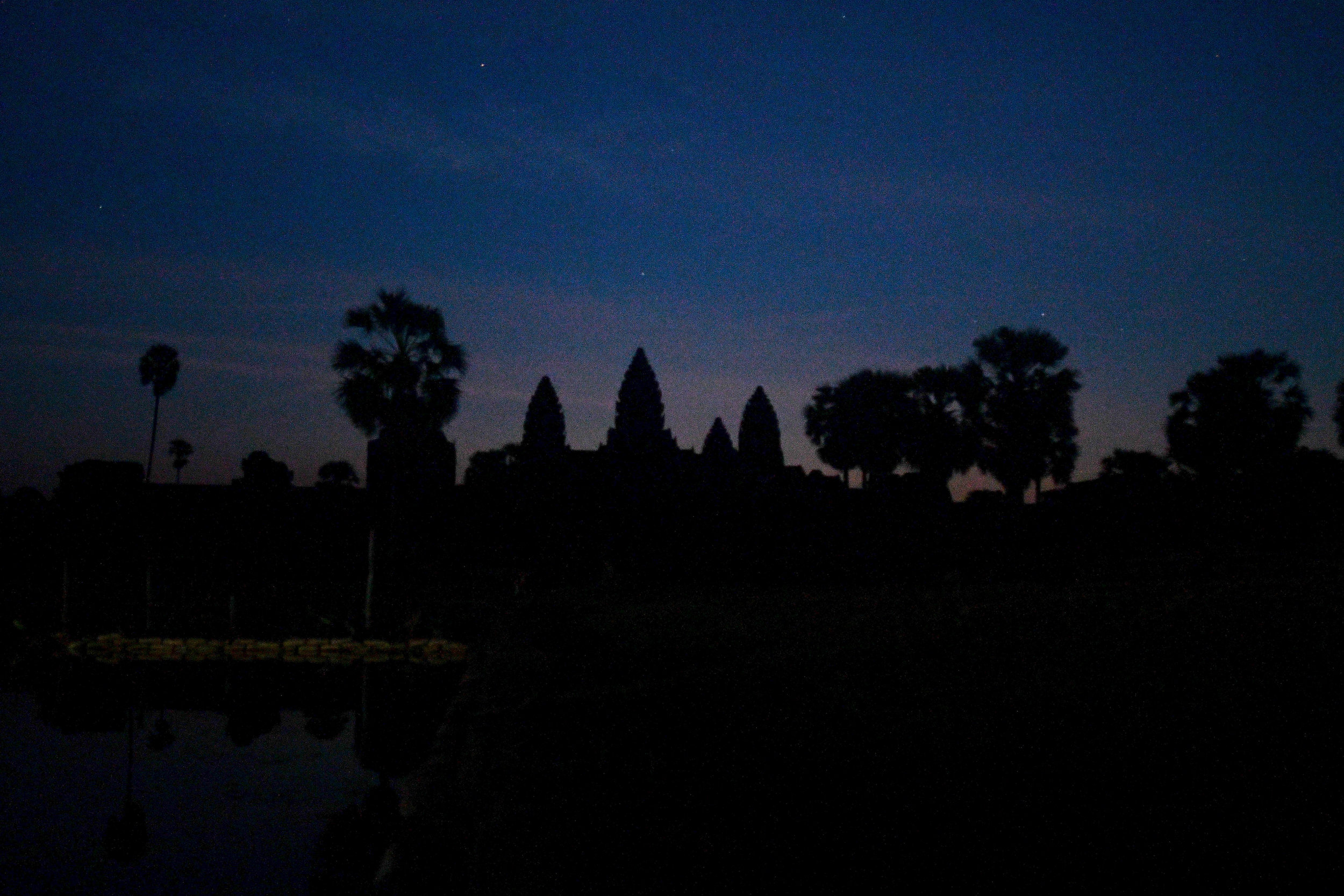 Early sunrise in Angkor