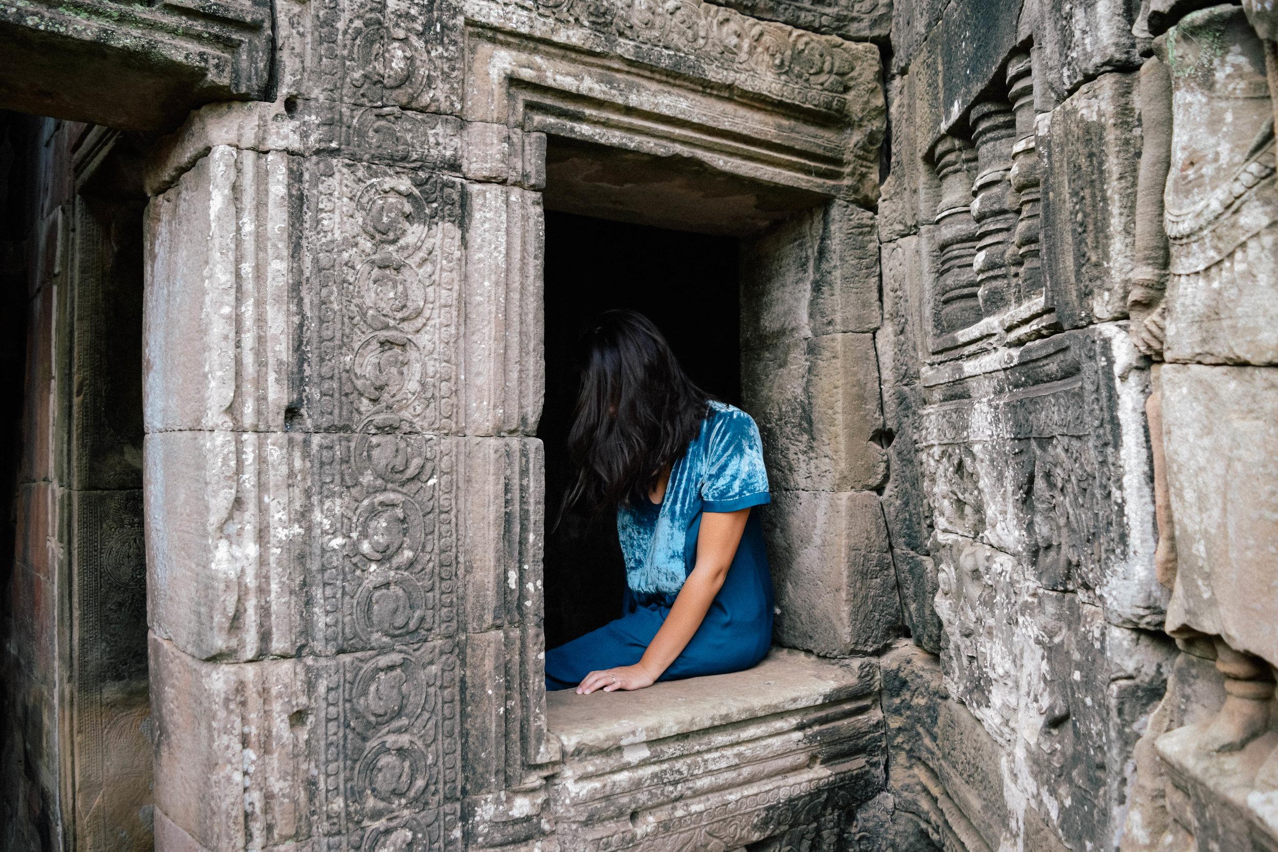 Window in Angkor Wat