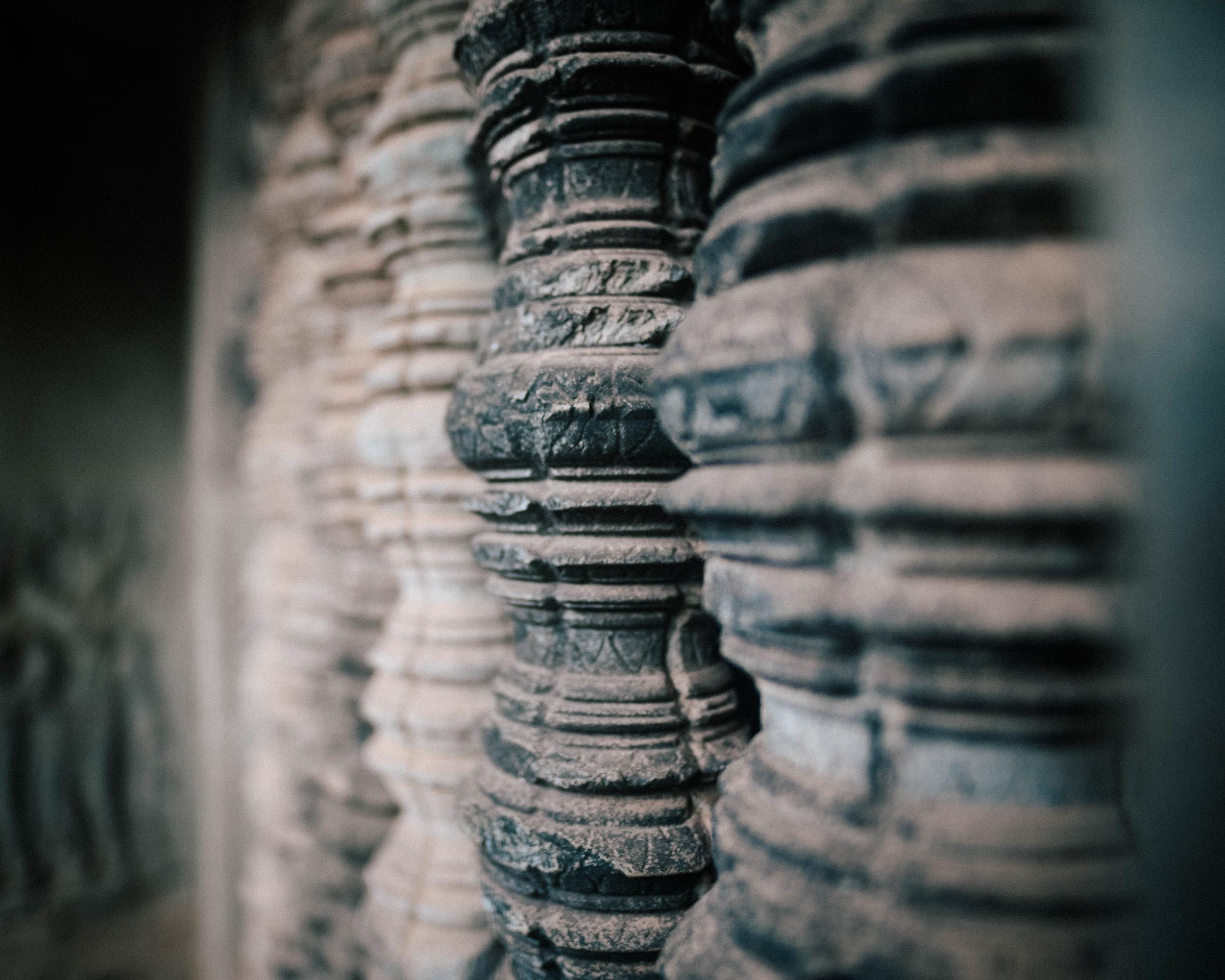 Poles in Angkor Wat