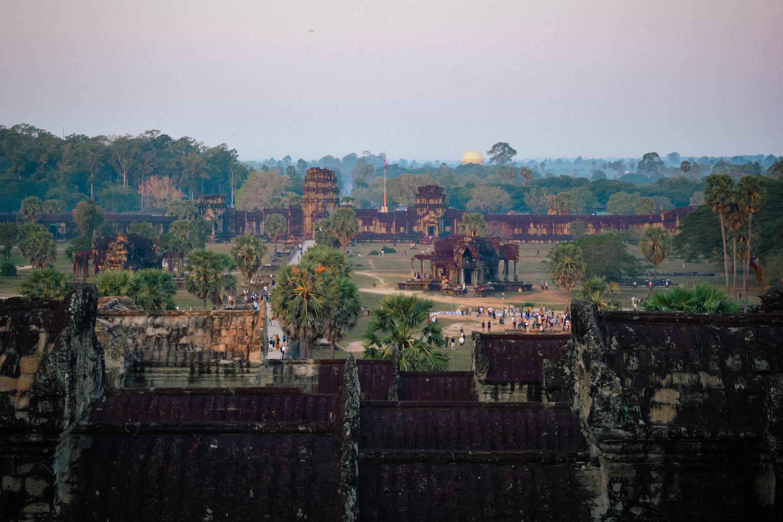 Panorama of angkor wat view