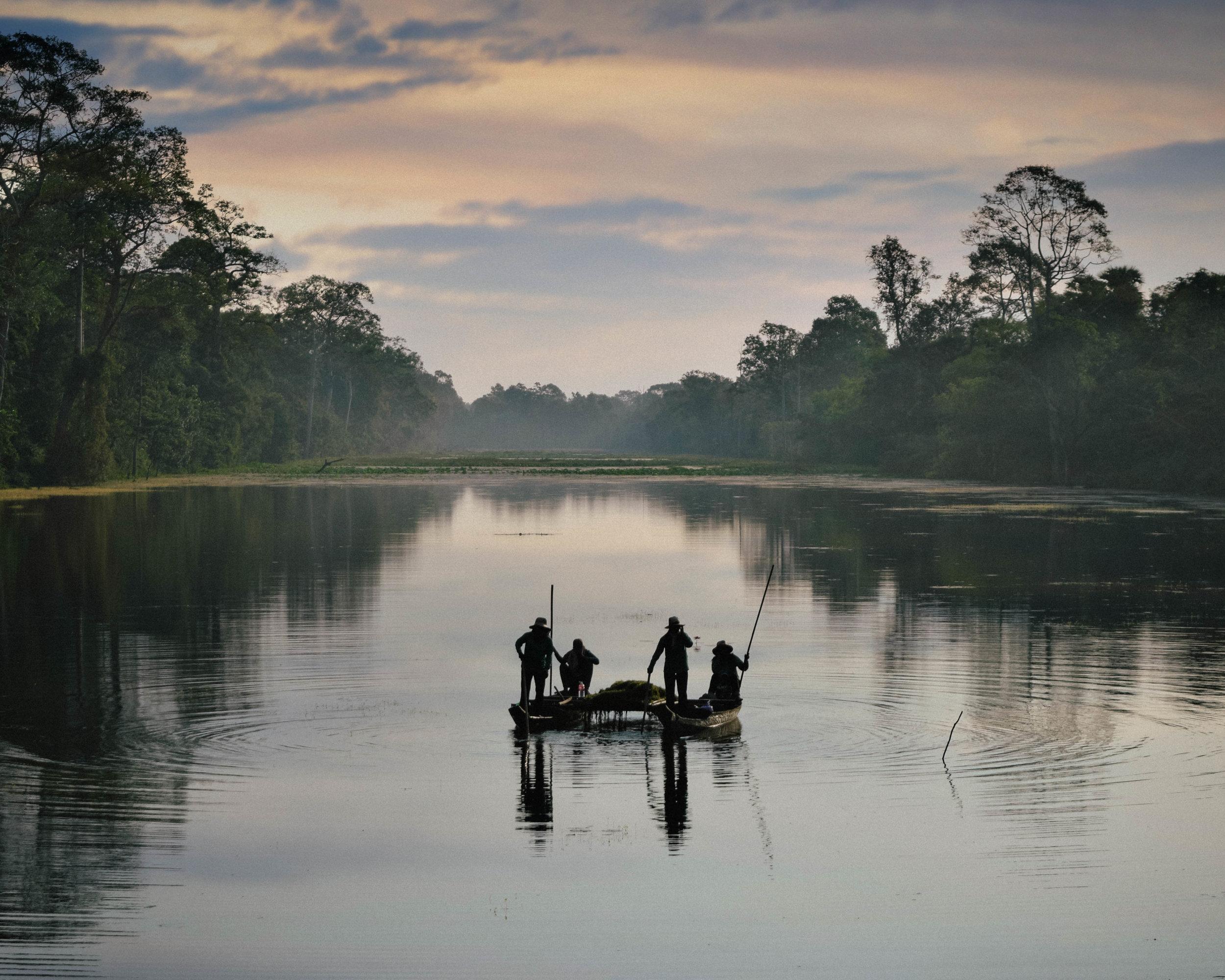 Fishermen at Angkor Wat