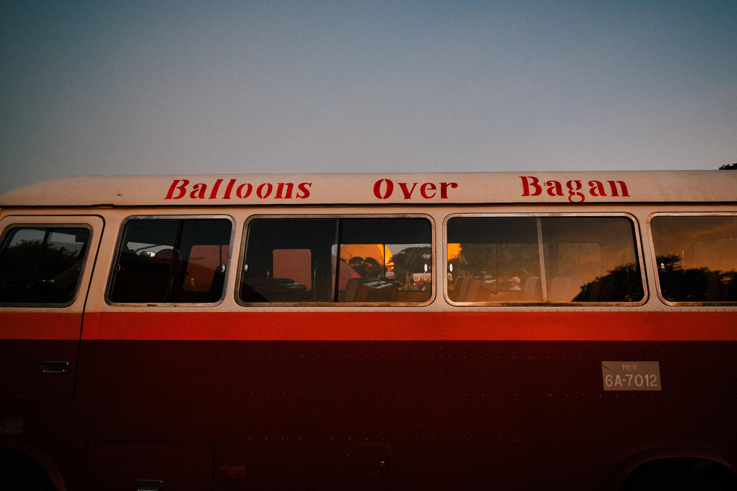 balloon bus over bagan