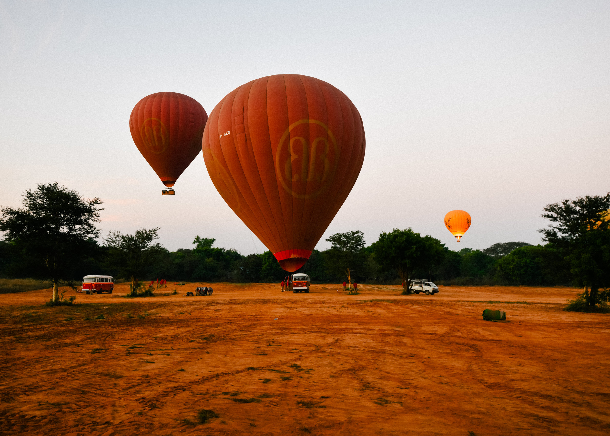 busses and balloons in Myanmar