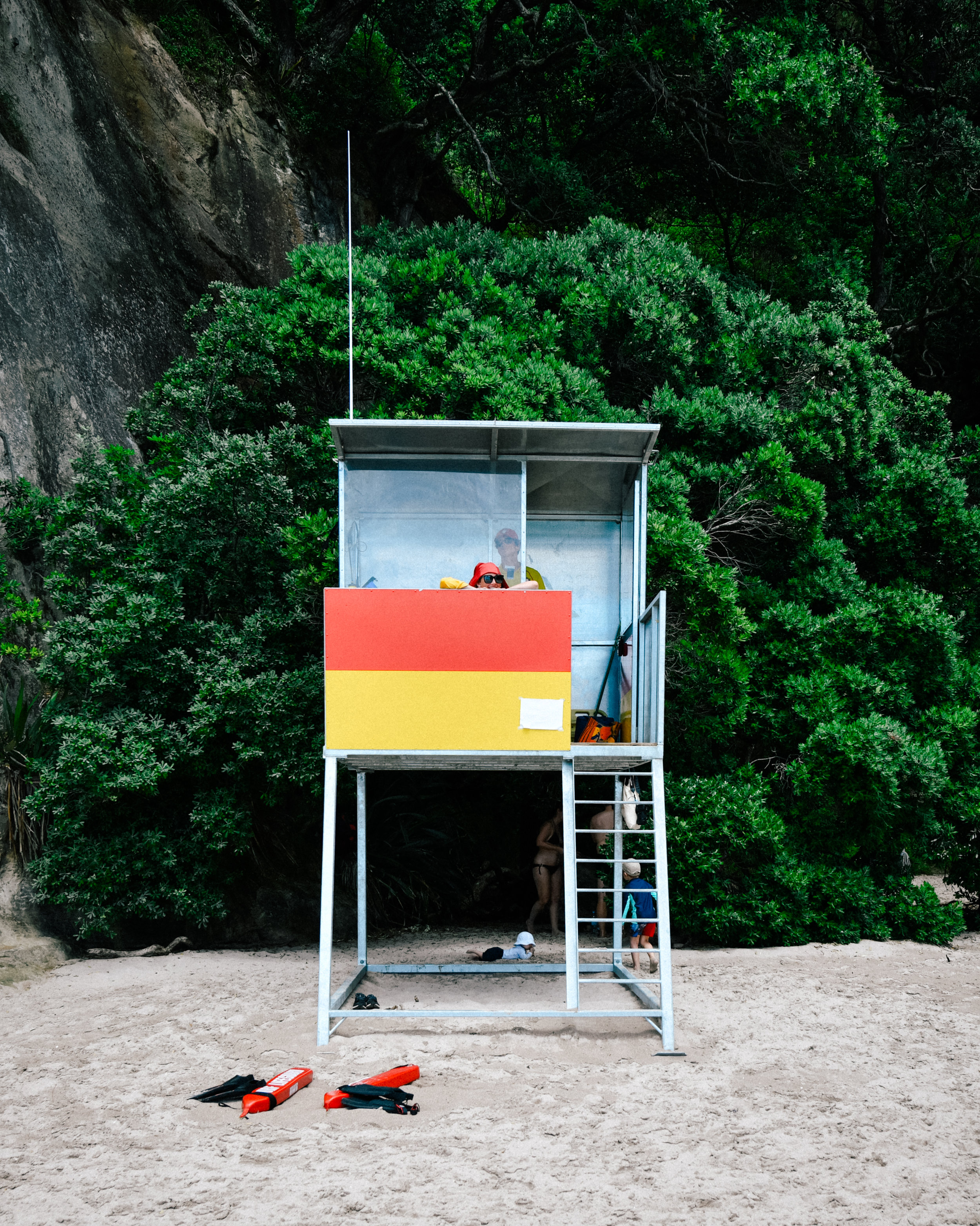 Lifeguard in Cathedral Cove