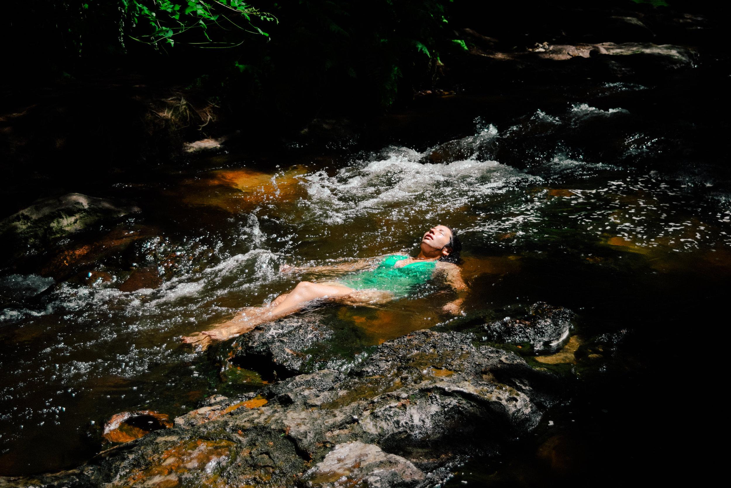 Bathing in Kerosene creek