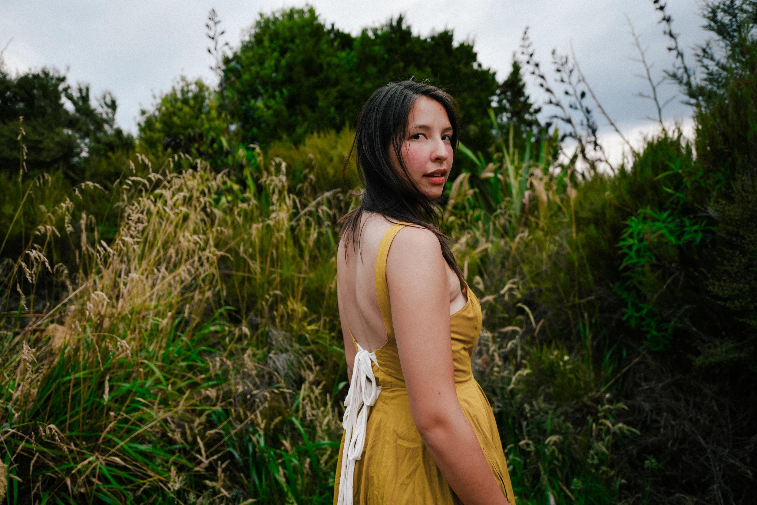 Portrait in the flora near Tongariro
