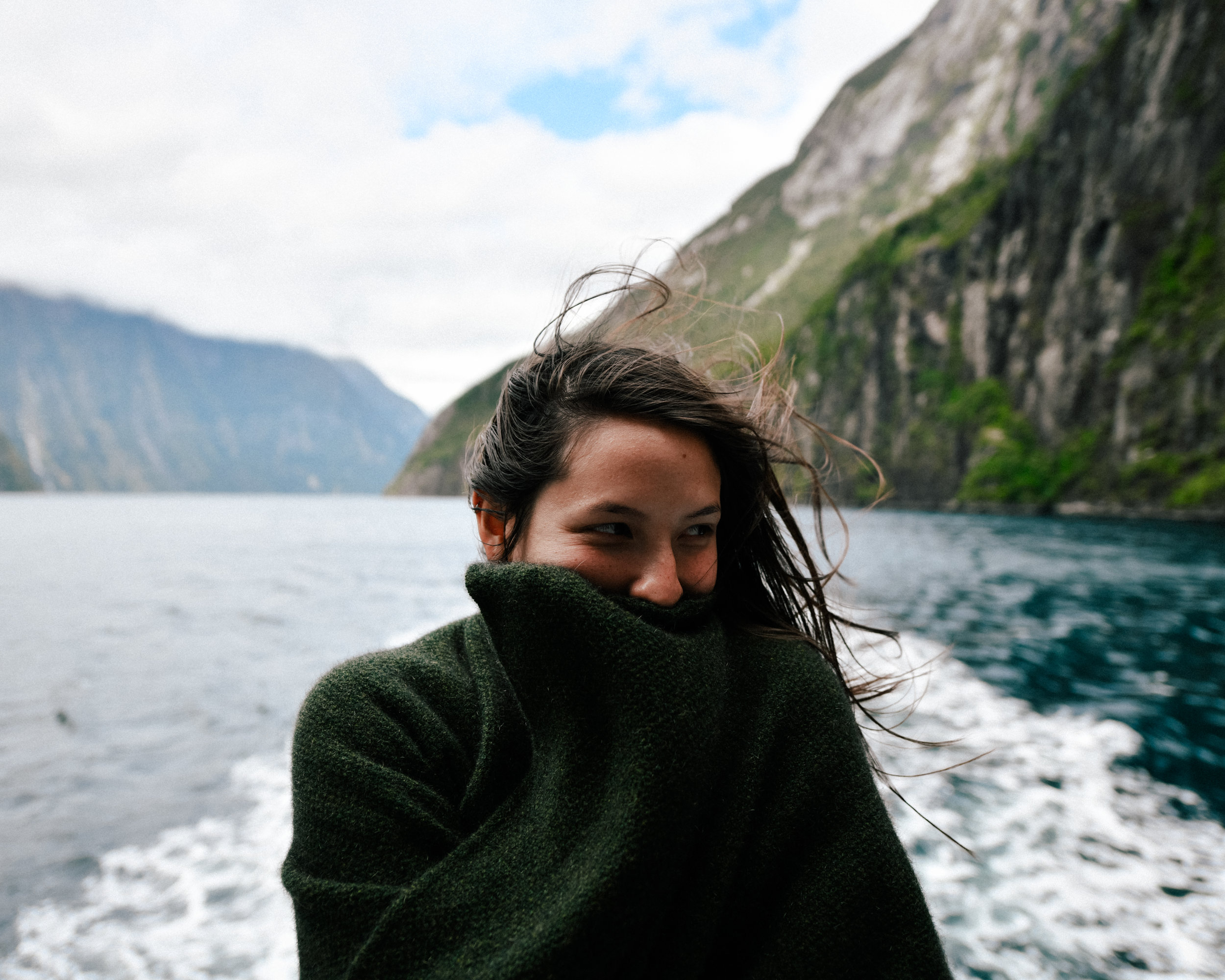 windy day in Milford Sound