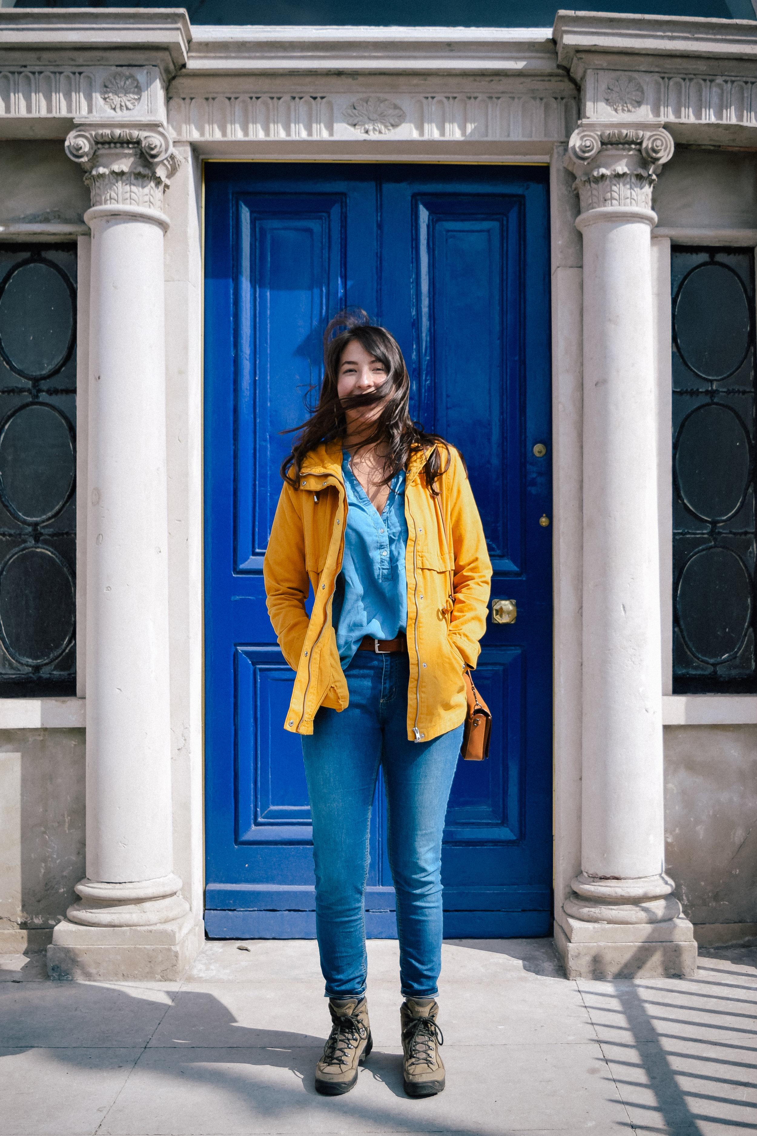A blue door in Dublin