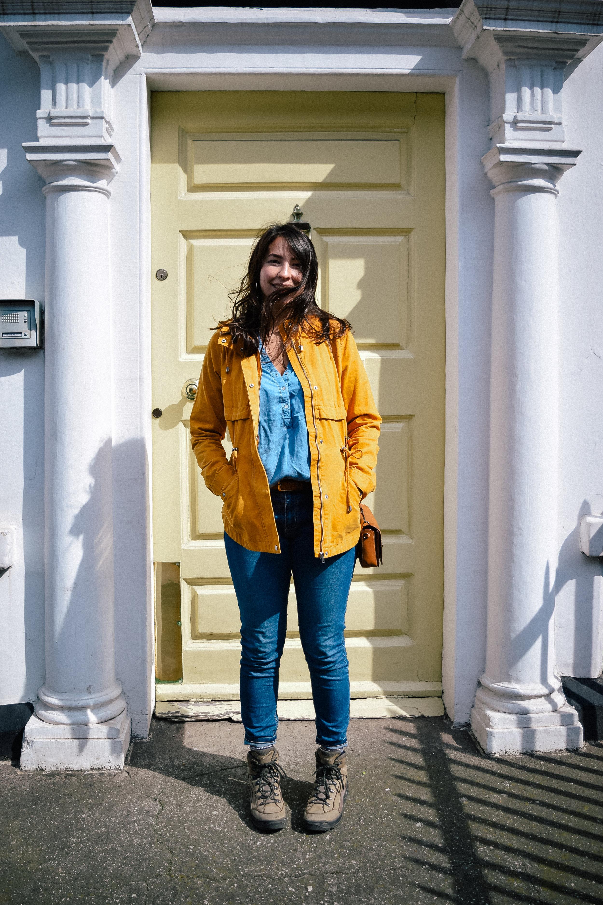 A yellow door in Dublin