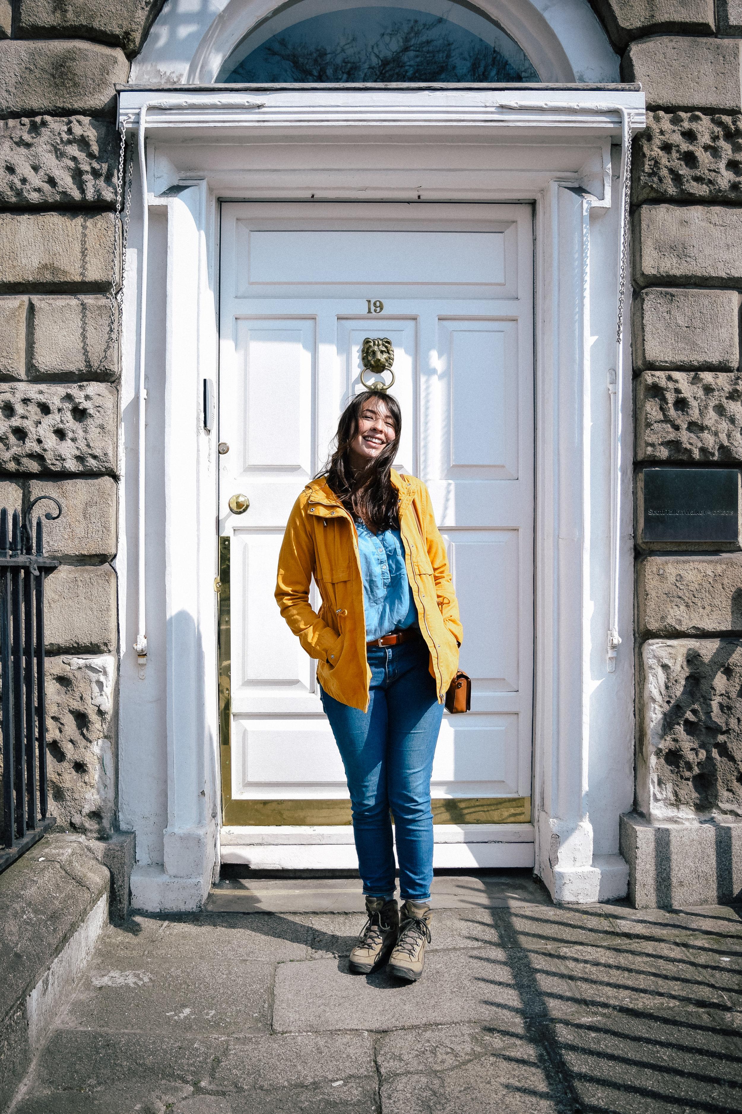 White door in Dublin