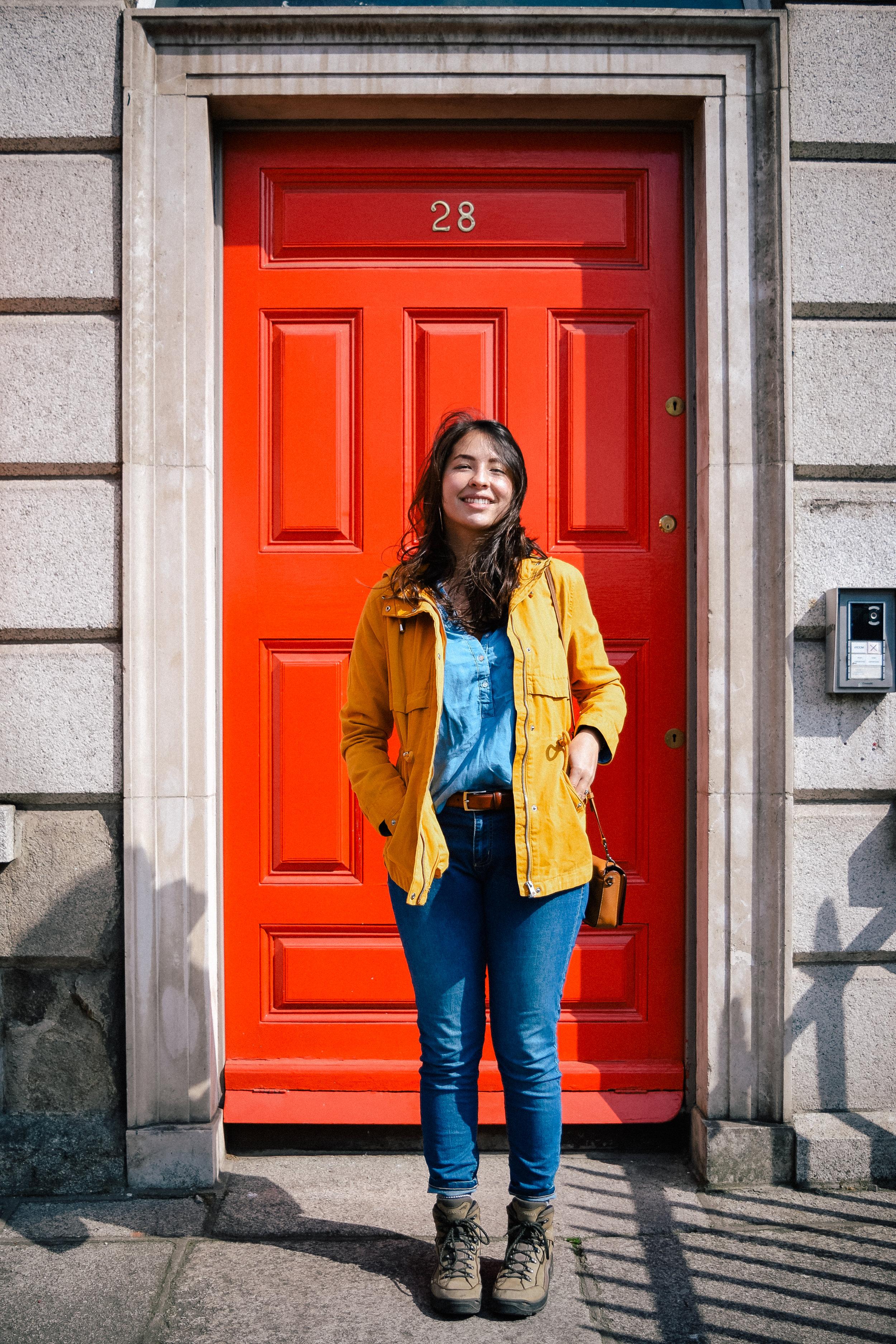 A red door in Dublin