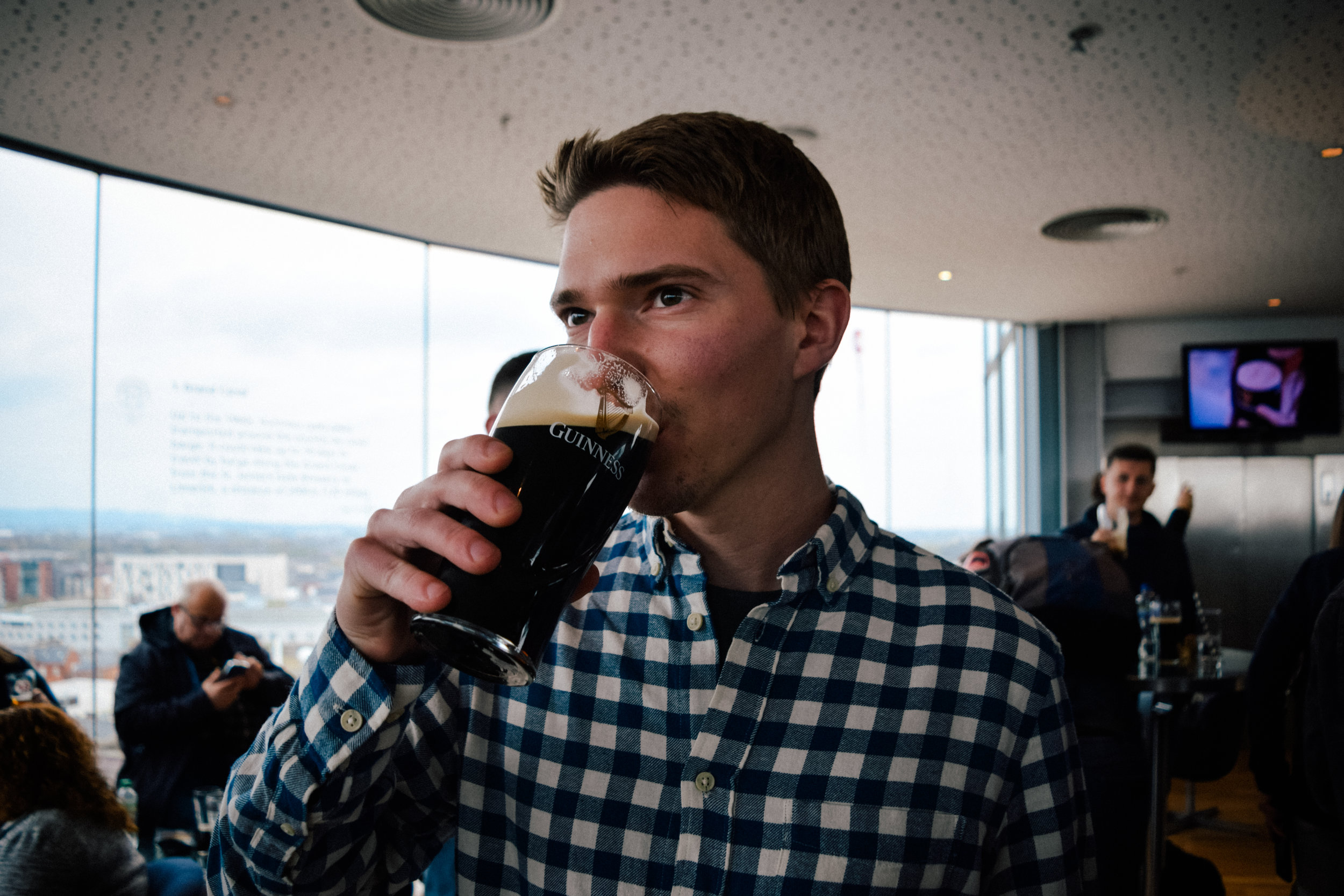 Having a Guinness at the St. James Brewery in Dublin!