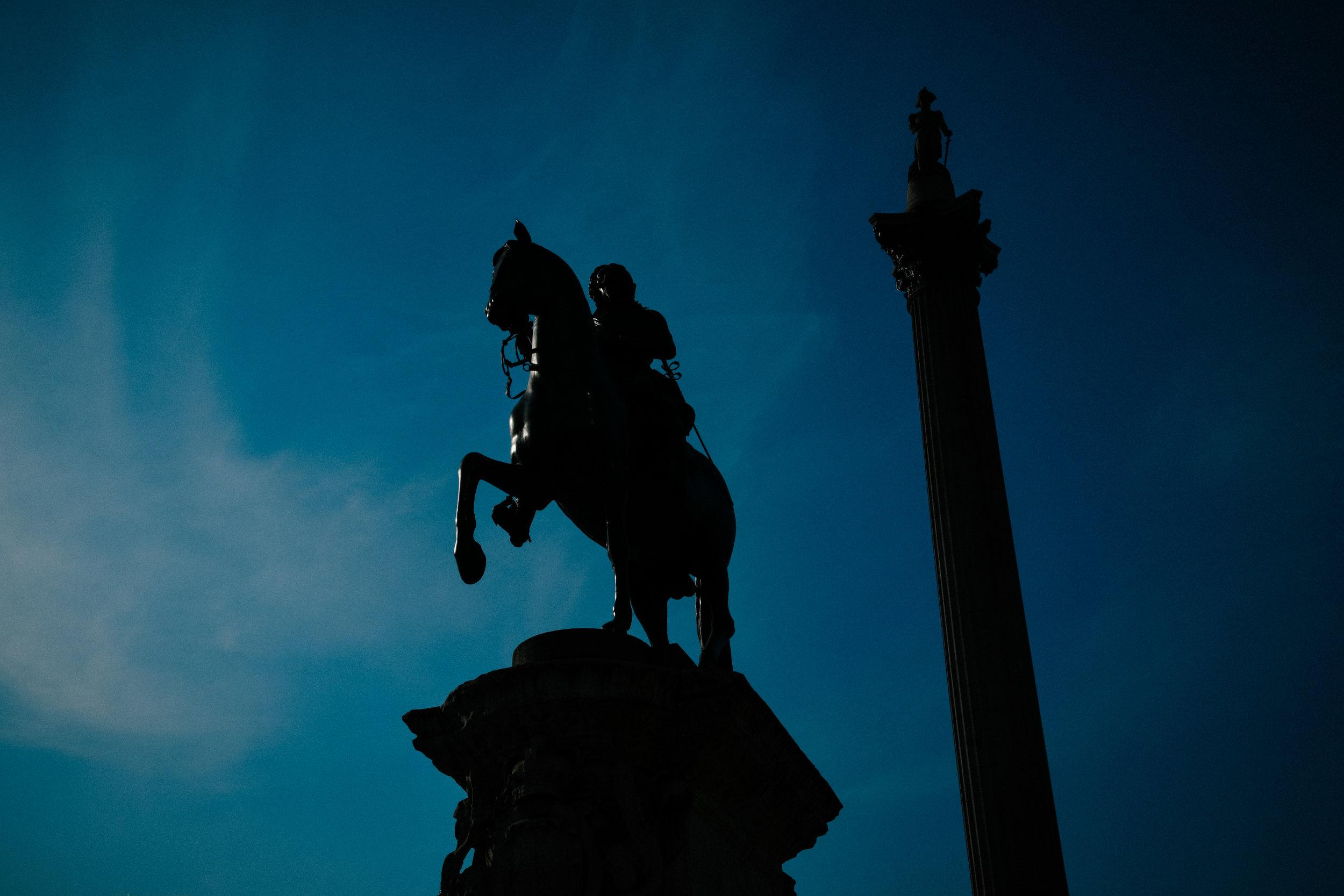 A statue near Trafalgar square
