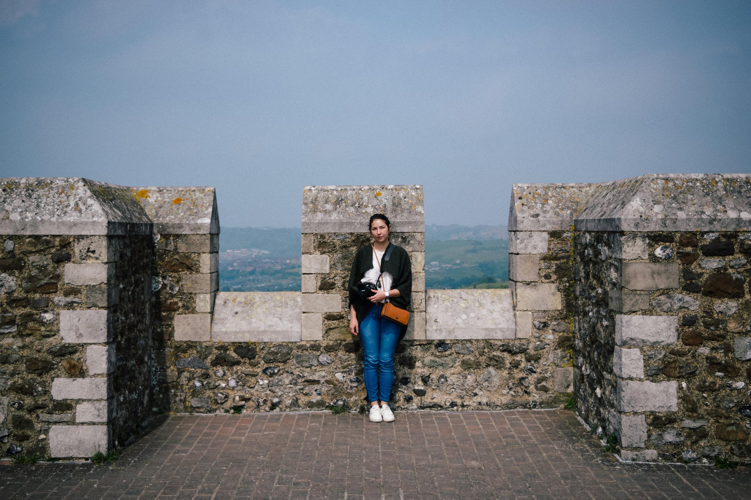 Top of Canterbury Castle