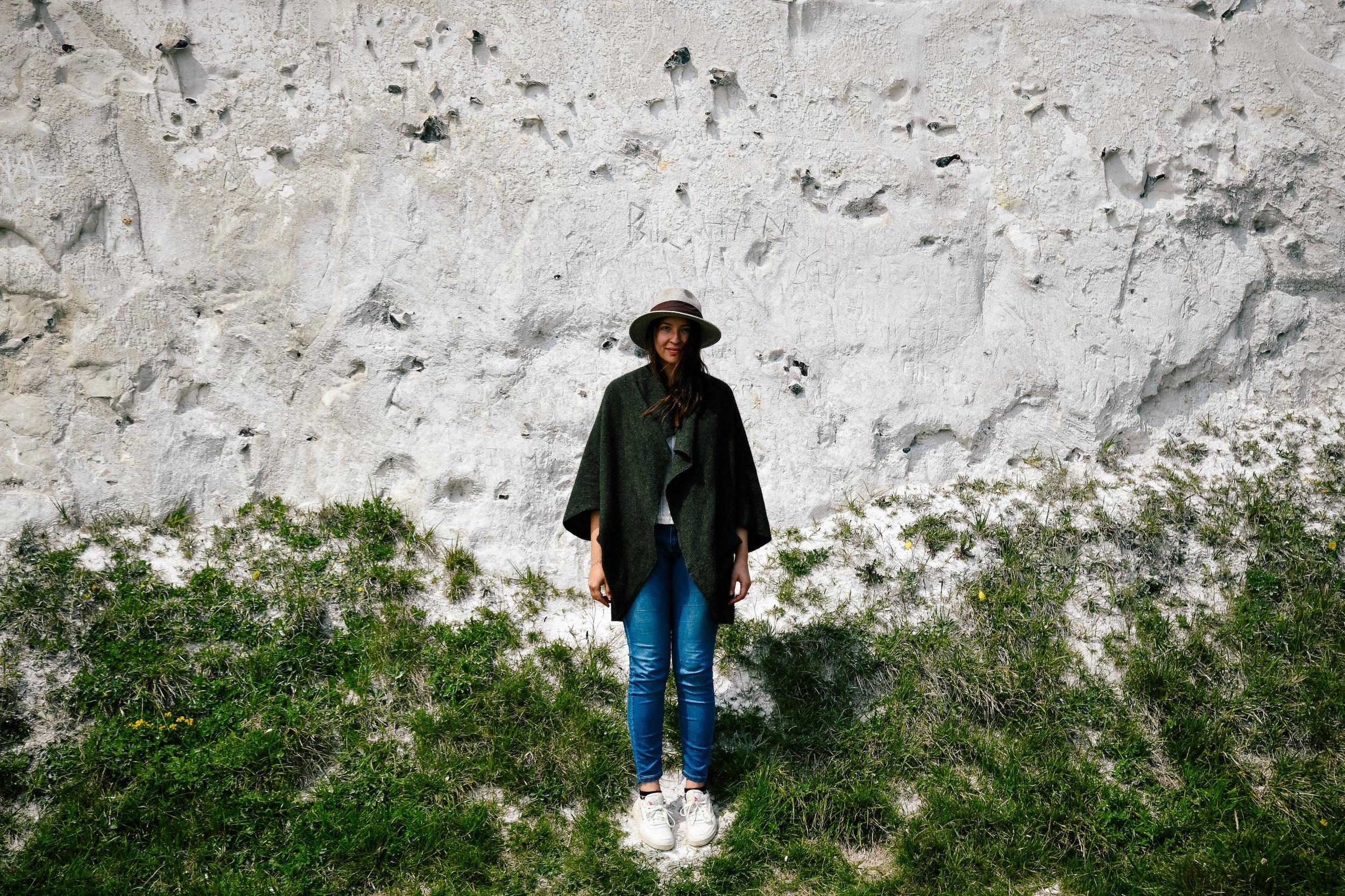 portrait in the white-cliffs