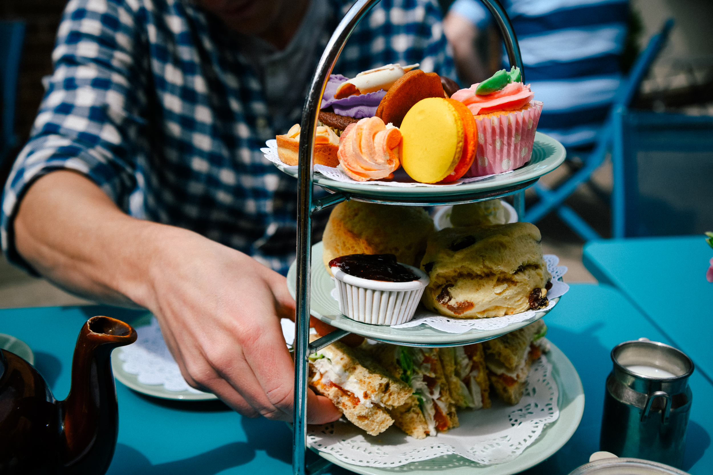 Traditional afternoon cream tea in Stratford-upon-Avon