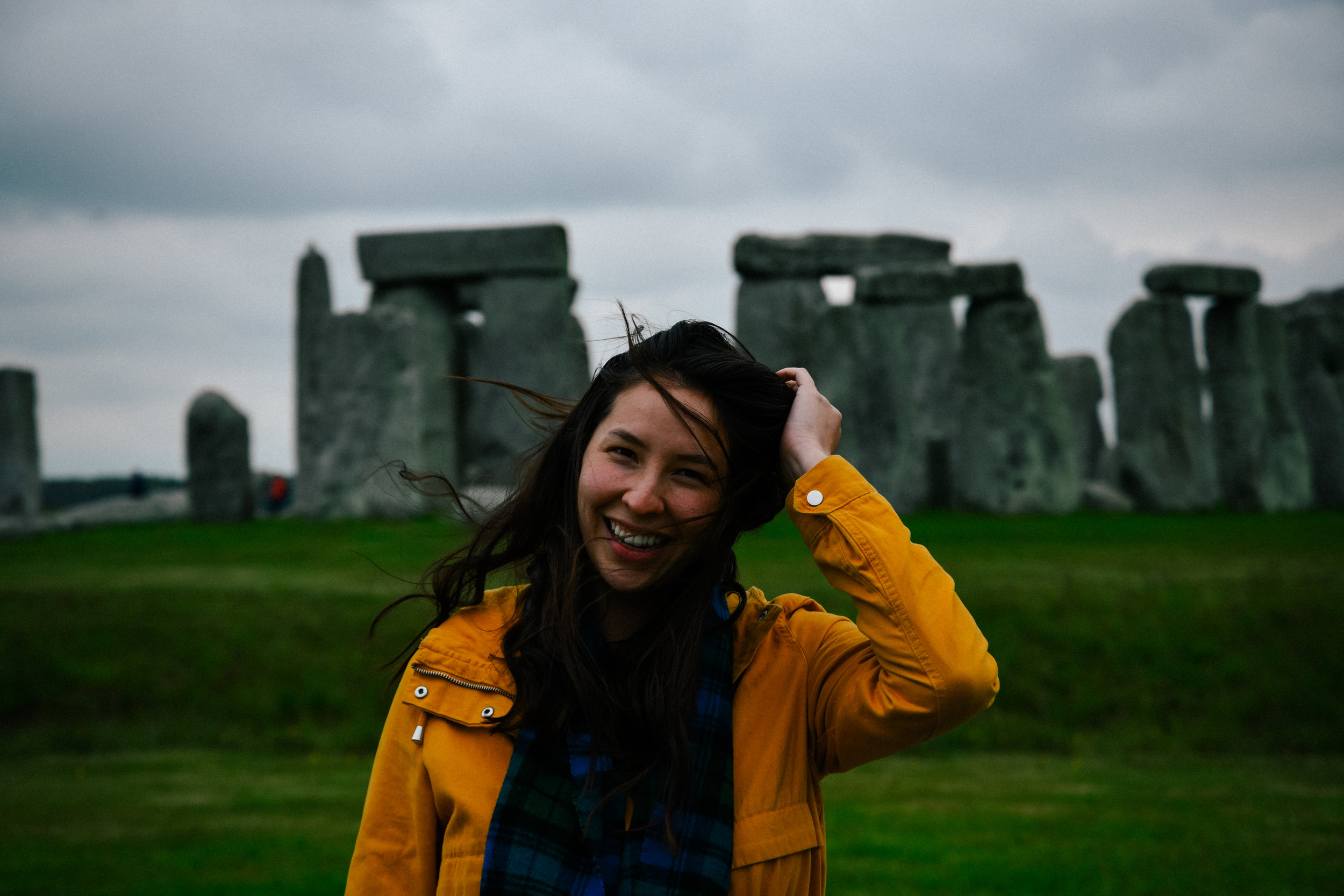 me in front of Stonehenge