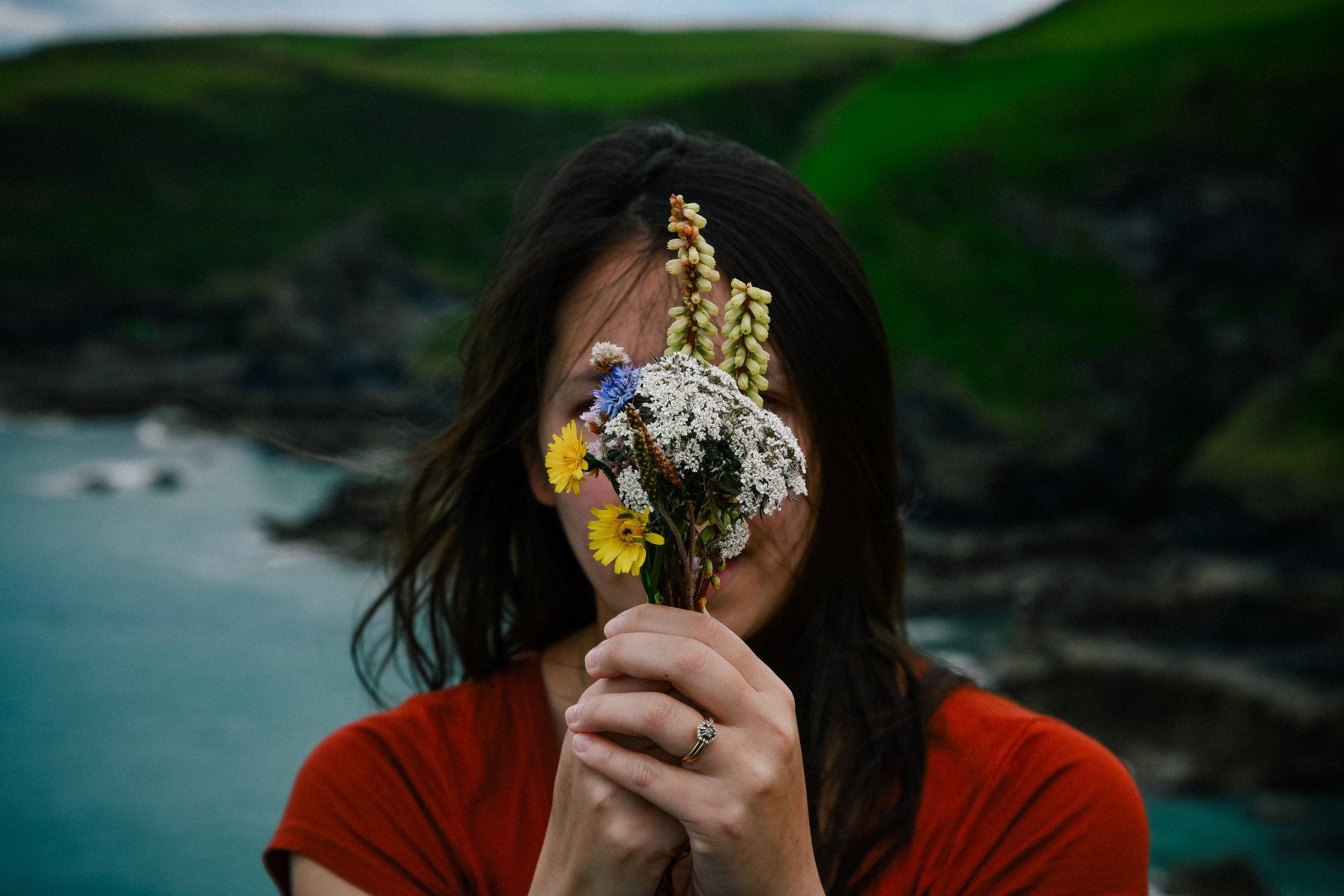port isaac flowers portrait