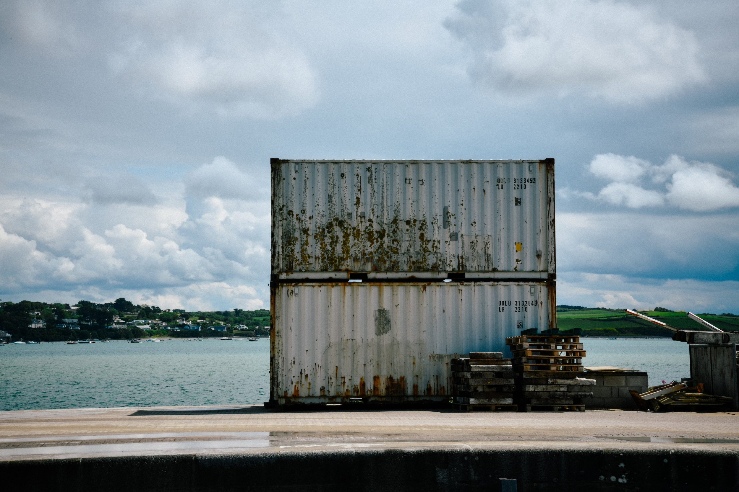 crate container in padstow