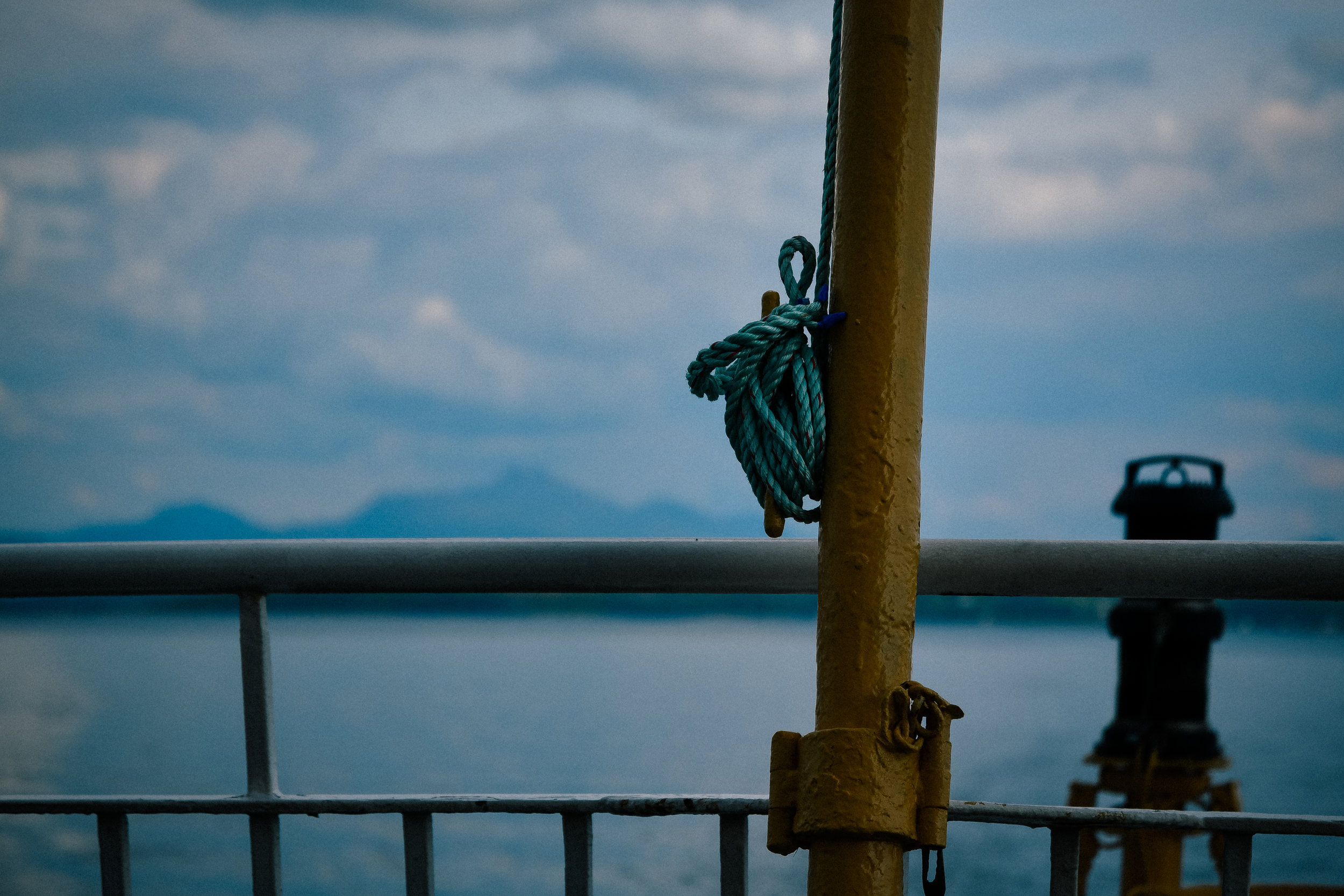 detail on the ferry to iona