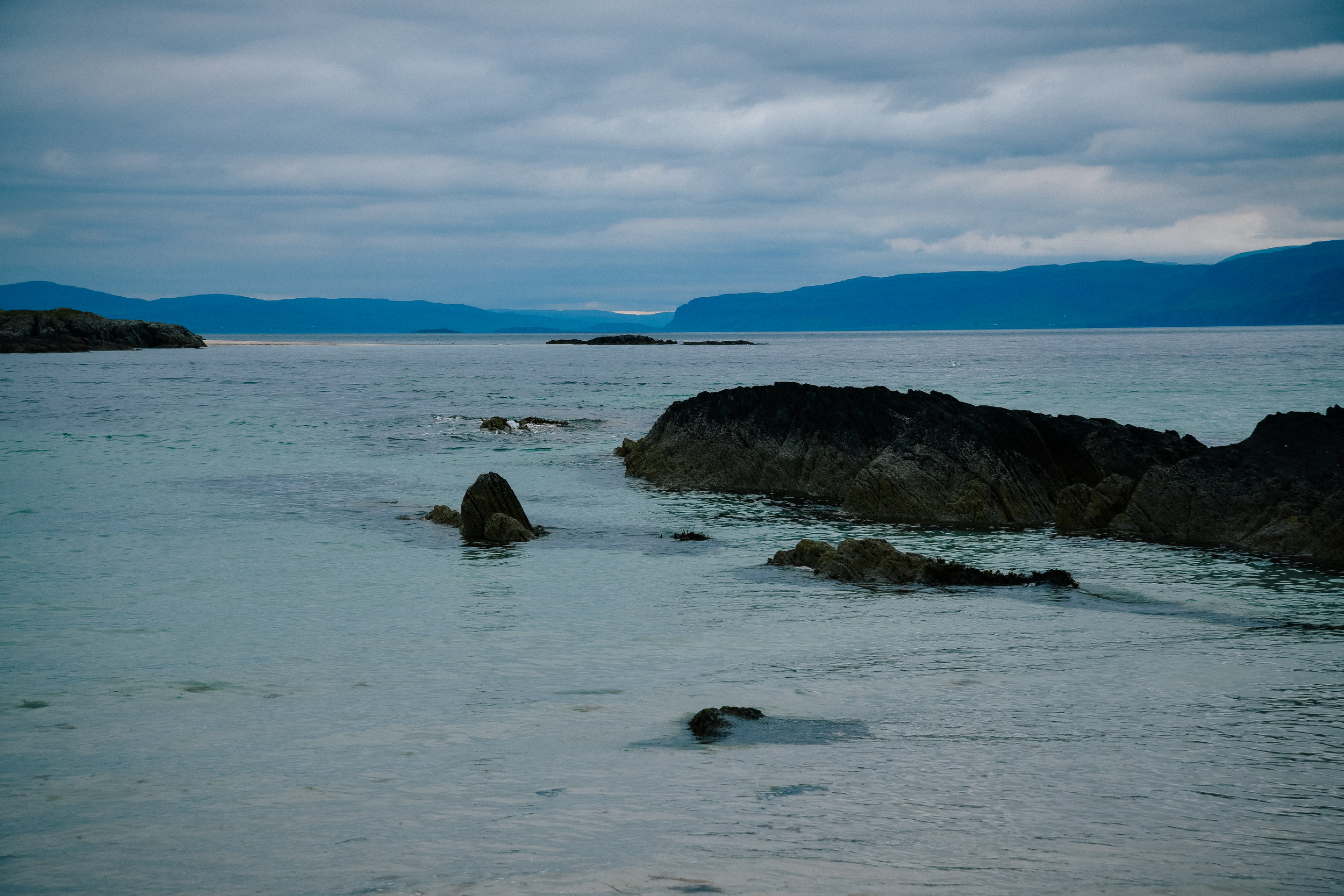 cliffs of the hebrides in iona