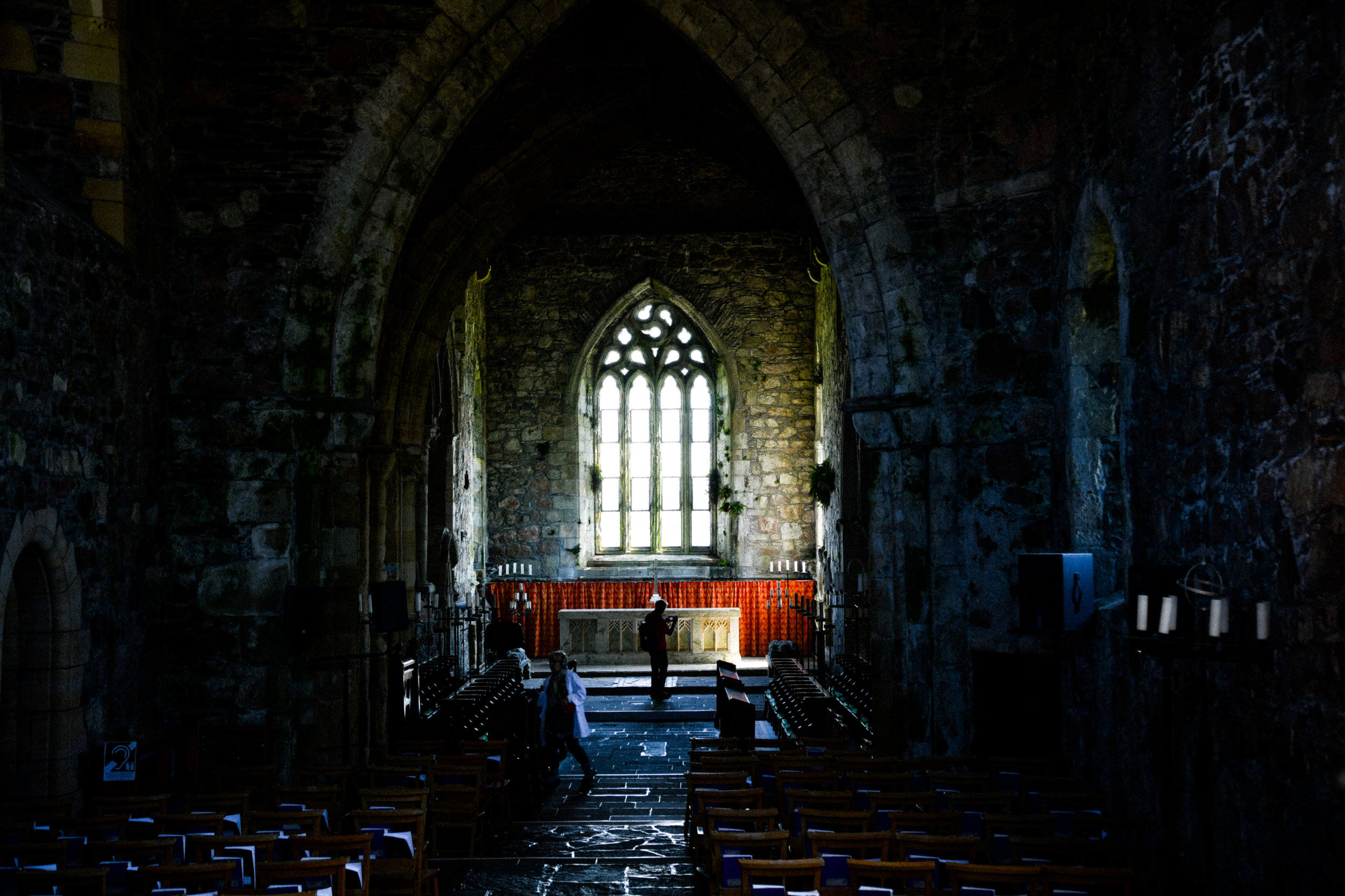 inside the iona abbey