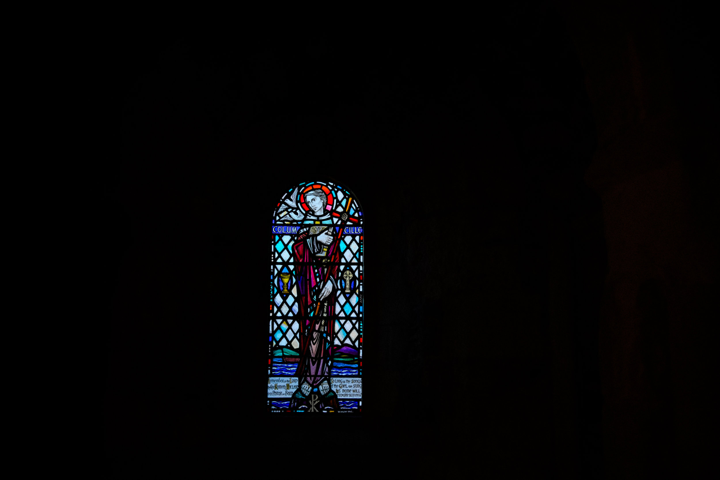 st. columba's stained glass window