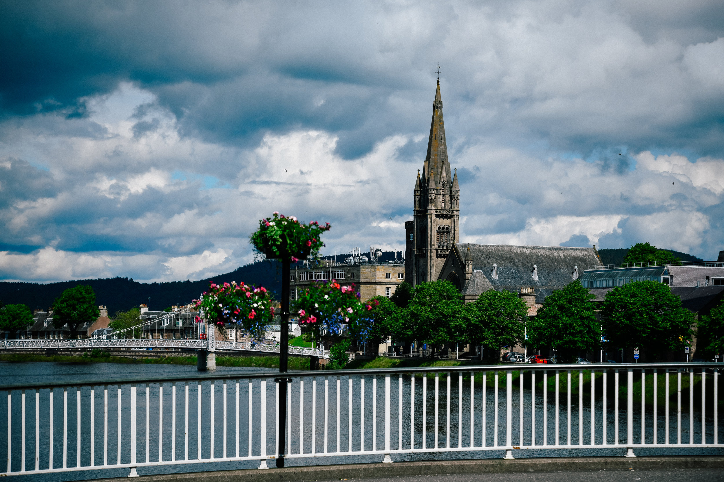 aA beautiful day in Inverness, Scotland