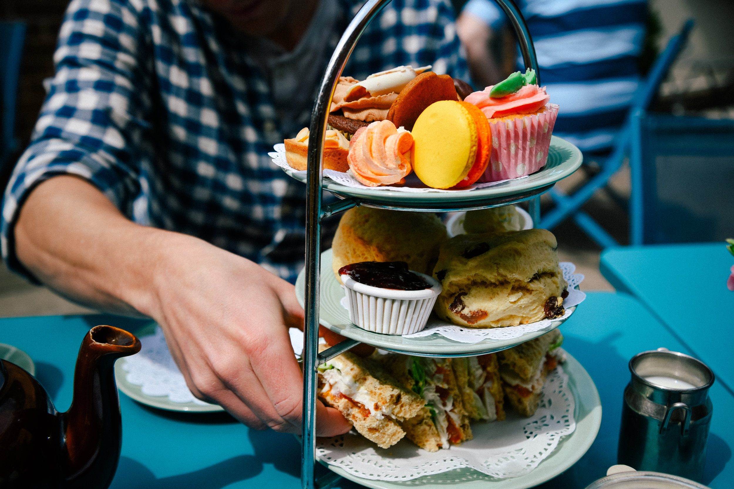 Beautiful afternoon tea from the Fourteas in Stratford-upon-Avon