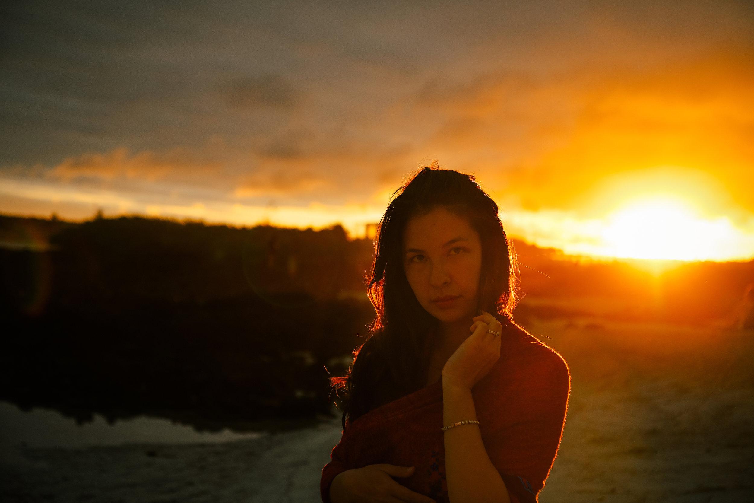 sunset portrait in playa santa cruz