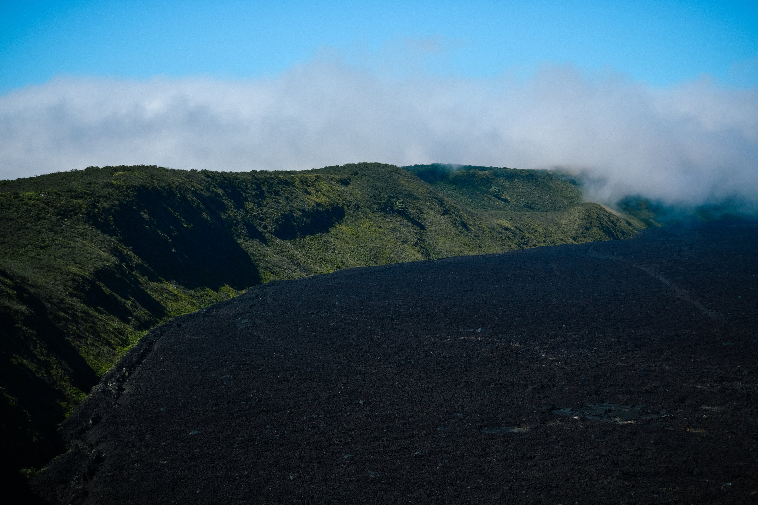 crater volcano thing in the galapagos, isla isabela