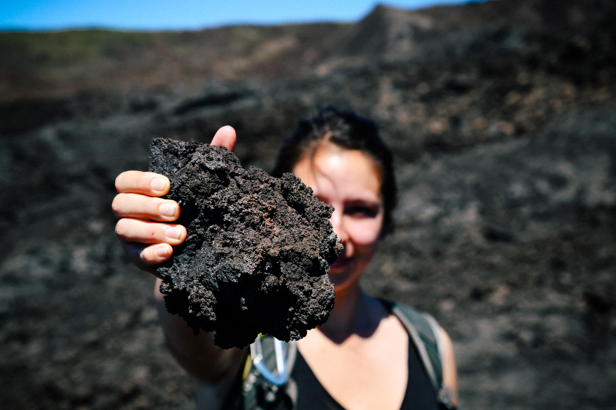 volcanic rock in the galapagos