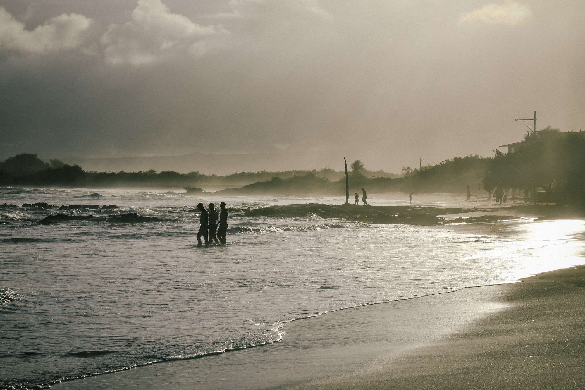 golden hour glow in the galapagos