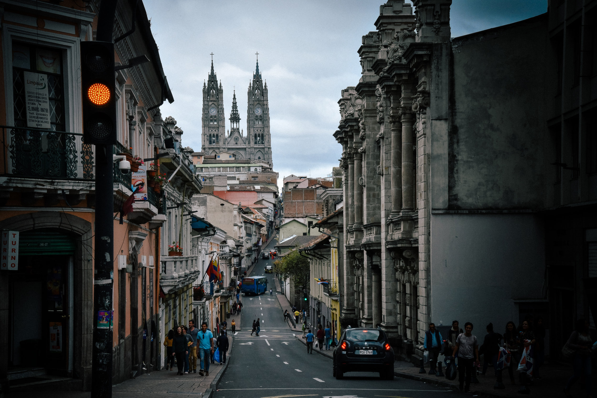 beautiful quito old town