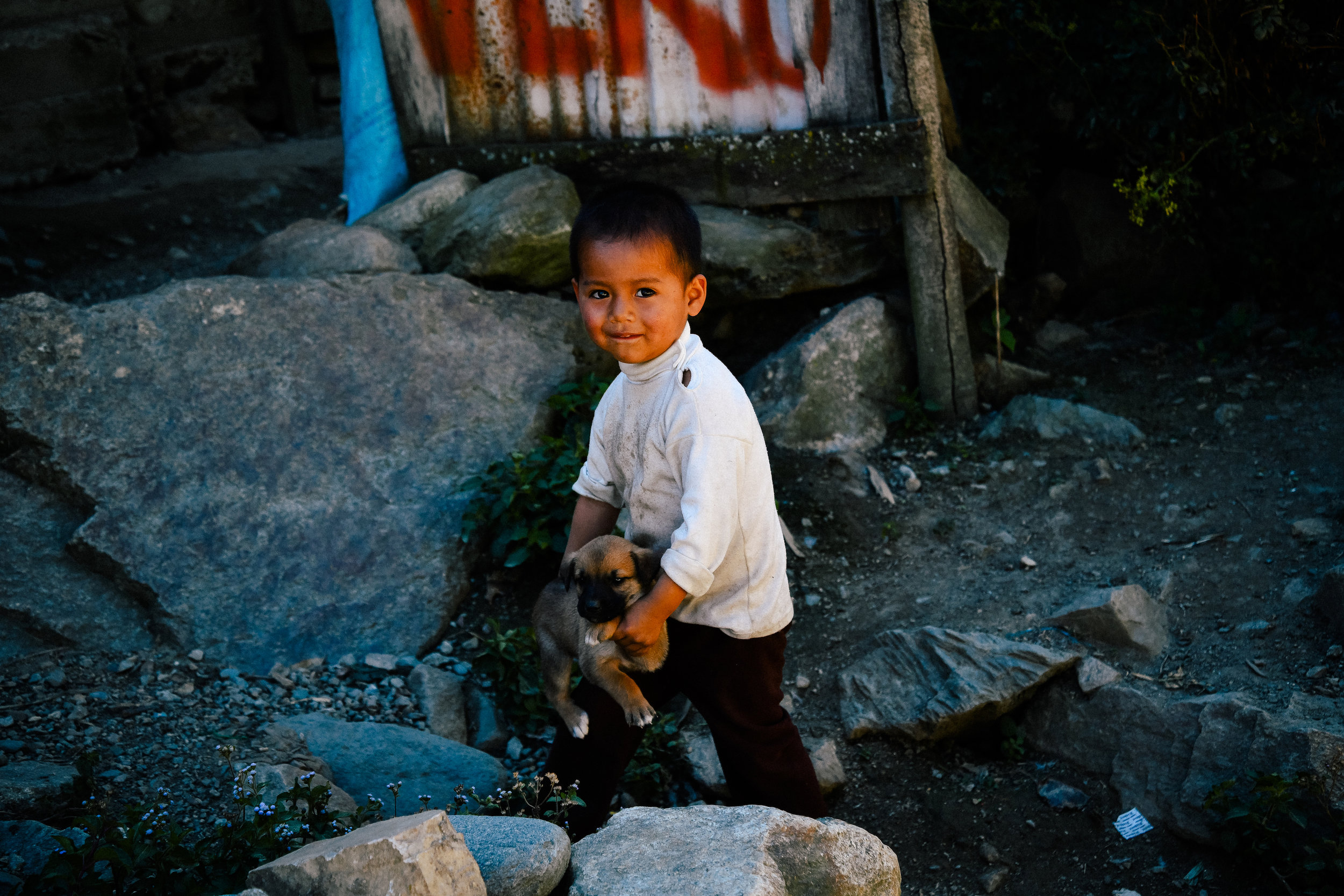 little boy in the andes