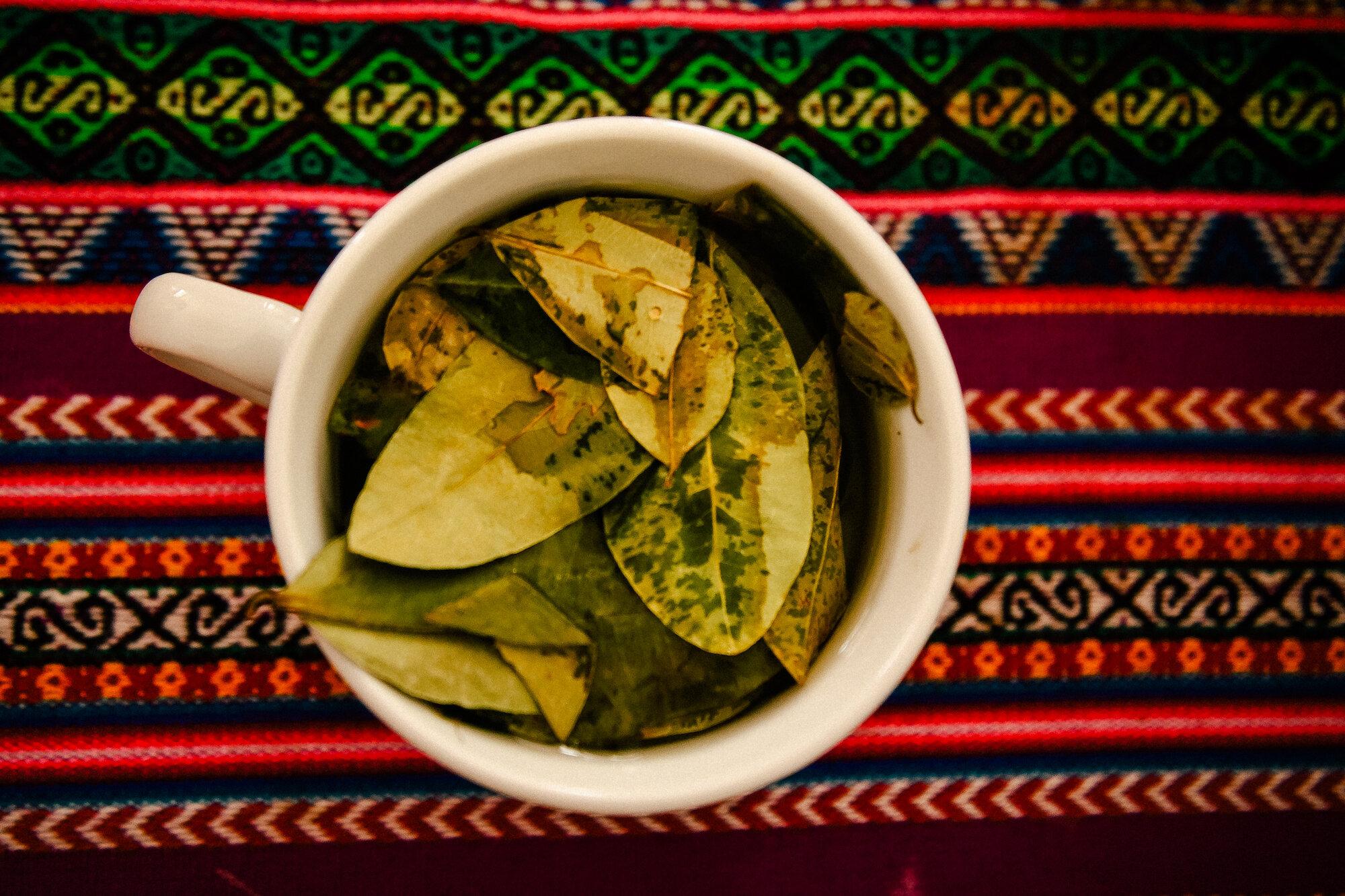 delicious mug of coca tea