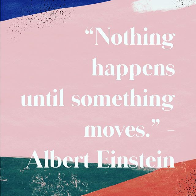 This is one of my favorite quotes.  Things don't just happen.  We can have a dream but unless we take the vulnerable step to get there, It is remains just a vision.  I don't know about you, but i want to experience the things i dream about.  I want to live into the goals that I have for myself and if I want to see changes in my life, the only one that can make that happen is ME. .  I created the 31 day movement challenge with this in mind.  As much as we would like to compartmentalize our body, mind and emotions, it will eventually catch up with us. .  We have to take care of our WHOLE person.  It doesn't have to be complicated and as overwhelming as our goals or dreams or the changes we need to make, FEEL.  It just takes one step at a time.  And all the little steps you take each day add up to a LOT of steps.  I hope you will join me in taking consistent small steps this month to take care of yourself.  I promise to make it fun and encourage you along the way. 👊🏼 .  The FREE challenge starts on Tuesday so sign up with the the link in my profile to receive all the details in an email!  #movetober