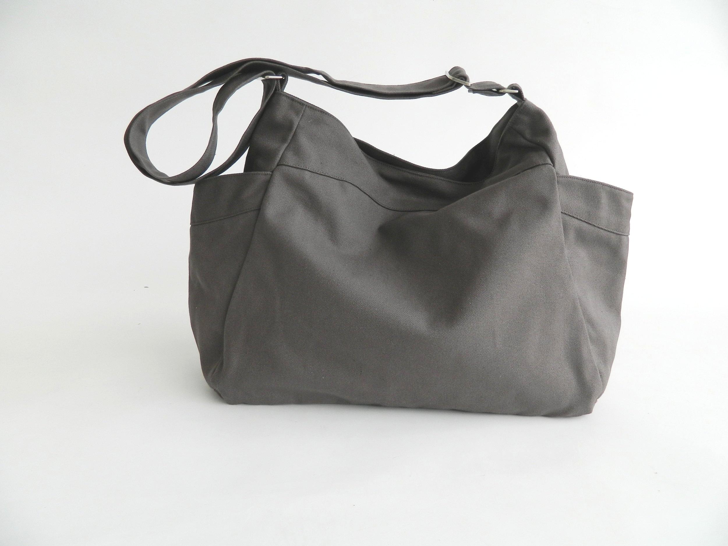 8d11e4b8a893b RENEE 101 - Gray Hobo Diaper Bag