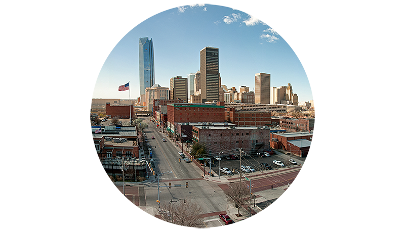 Oklahoma City Skyline Icon