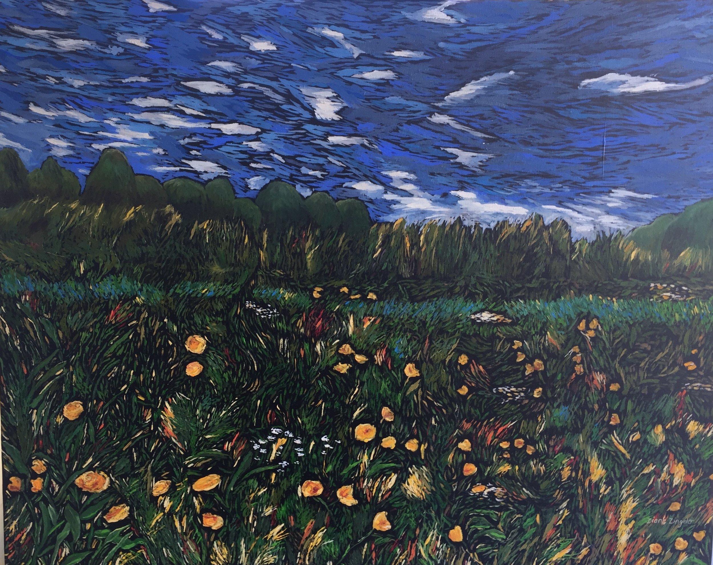Morning Dew - 30'' W x 24'' H - oil