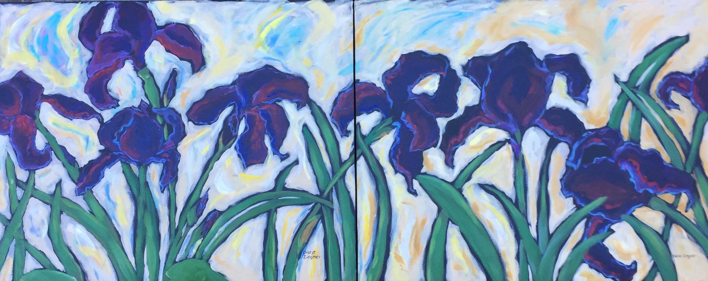 Beautiful Stillness - one of two - 60'' W x 24'' H - Acrylic
