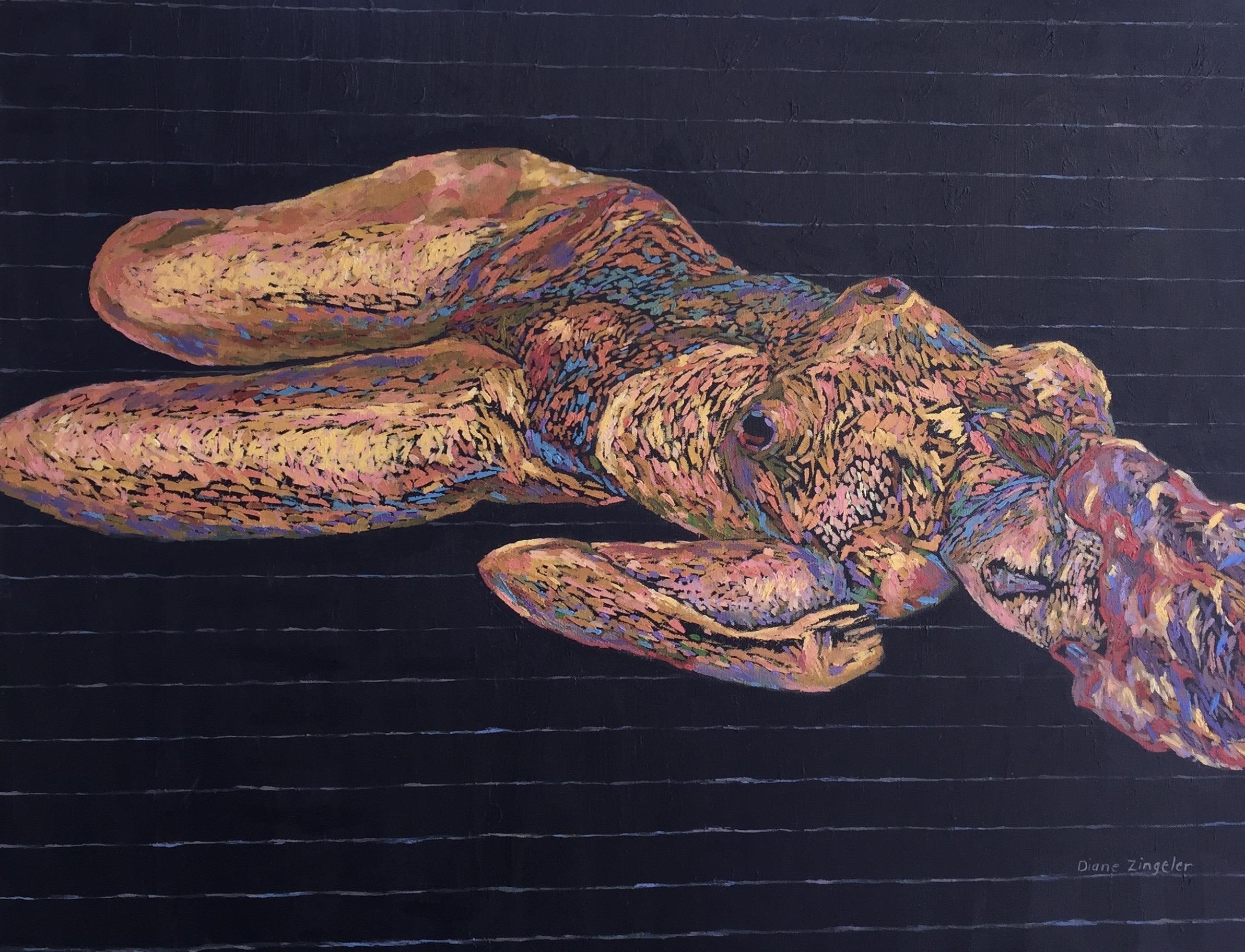 Buried in Deep - 30'' W x 24'' H - oil