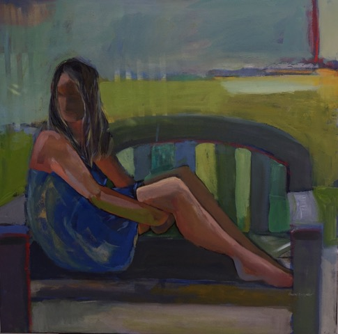 30 '' w x 30 '' h / A quiet blanket of waiting / oil