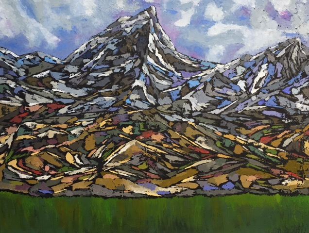 40 '' w x 30 '' h / Canadian Rockies / oil
