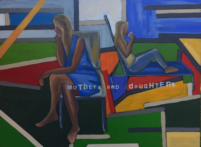 40 '' w x 30 '' h / mothers and daughters / oil