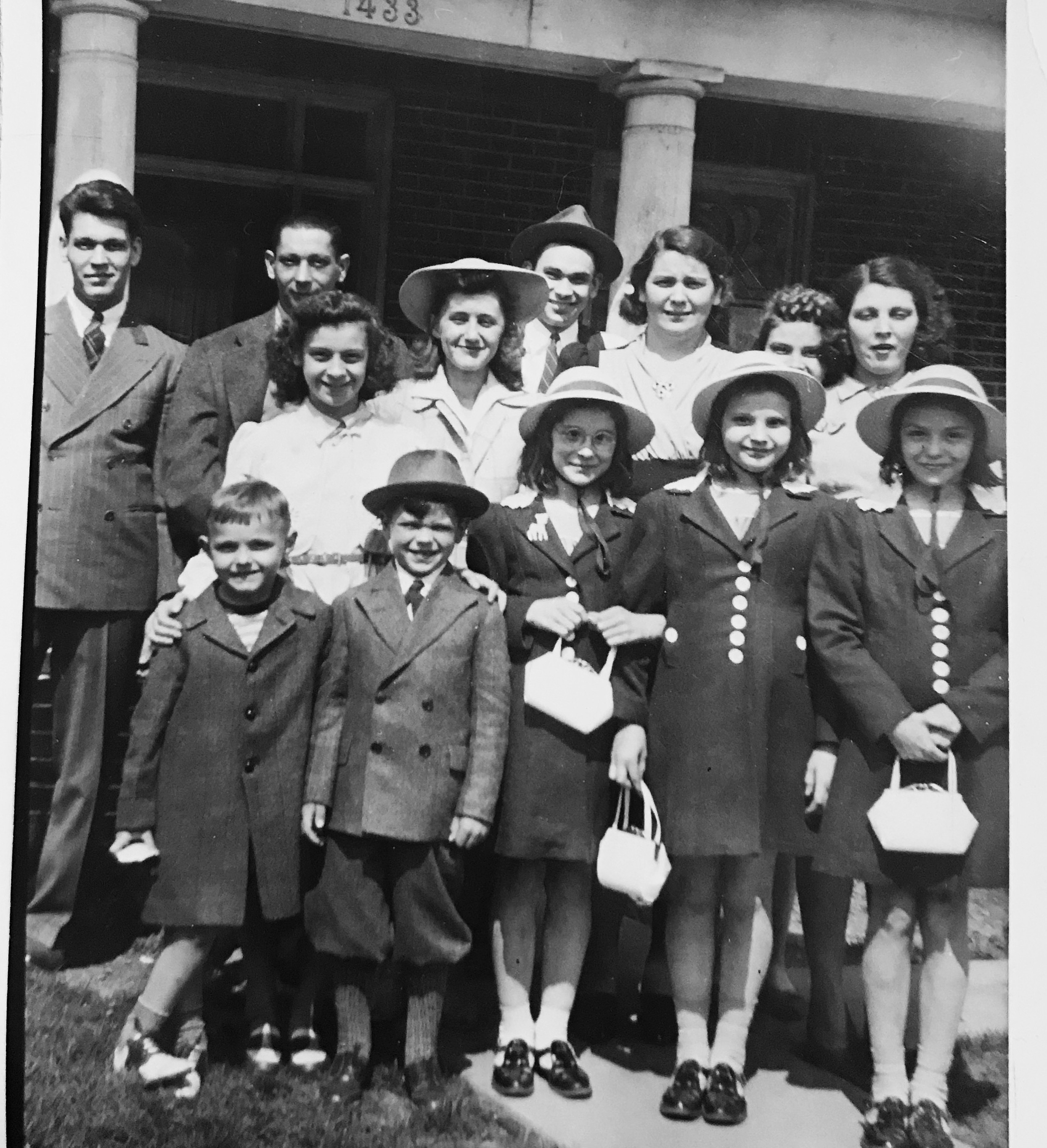 1st generation of Stankiewicz family on Easter Sunday in the 1940s