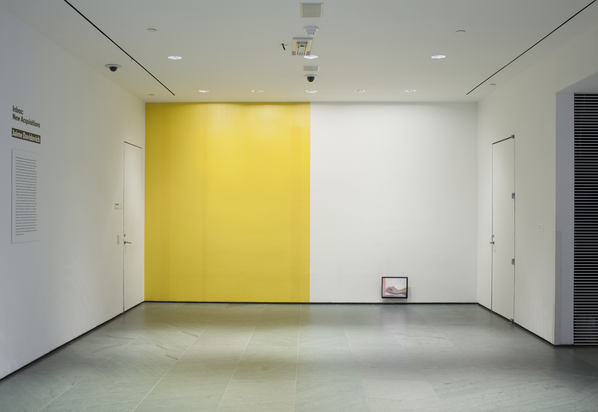 TAPE PROJECTS - Left: Jaime Davidovich, Tape Wall Project, 1970