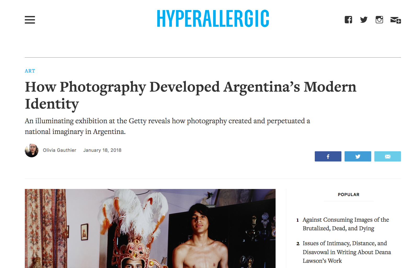 How Photography Developed Argentina's Modern Identity - Hyperallergic - January 18, 2018
