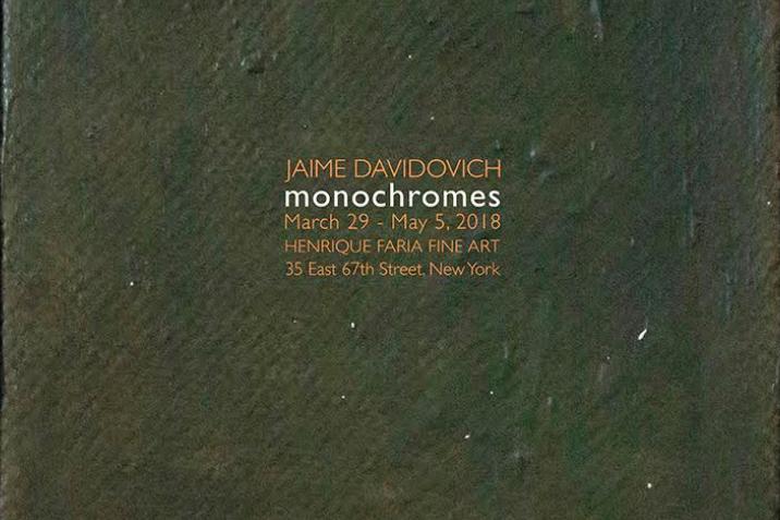 HENRIQUE FARIA FINE ART - Jaime Davidovich: MonochromesMarch 29 - May 5, 201835 E 67th Street, New York