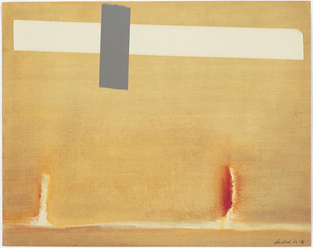 MONOCHROMES - Left: Jaime Davidovich,Yellow Painting, 1965